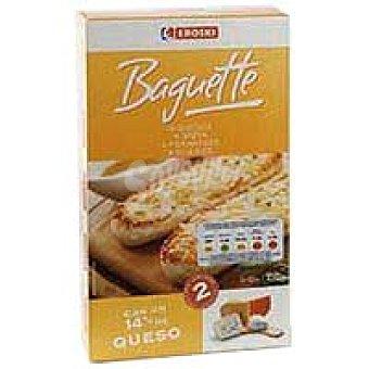 Eroski Baguette de 4 quesos Pack 2x125 g