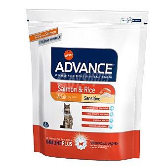 ADVANCE Pienso para gatos Advance Adult Sensitive salmón y arroz 400 gr