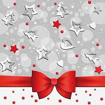 Noel Servilletas decorado Navidad 33X33 cm Paquete 20 unidades