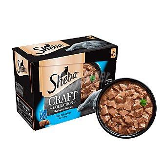 Sheba LES creations comida húmeda para gatos adultos selección de pescados 4 sobres 85 g