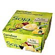 Yogur Soja frutos amar. Pack de 4x125 g Carrefour