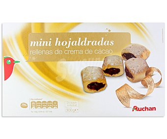 Auchan Mini hojaldradas rellenas de crema de cacao 300 gramos