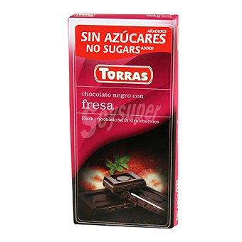 Torras Chocolate negro con fresa 75 g