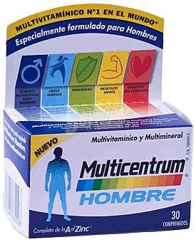 MULTICENTRUM Hombre Complemento alimenticio multivitamínico y mineral, 30 Comprimidos