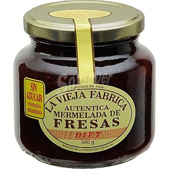LA VIEJA FABRICA mermelada de fresa sin azúcar frasco 340 g