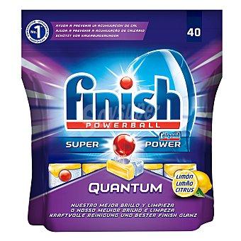 Finish Lavavajillas máquina quantum Limón 40 ud