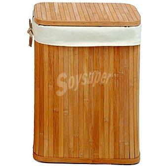 CASACTUAL Cesto de ropa de bambú 36 x 27 x 46 cm