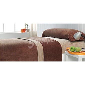 CASACTUAL Coralina bicolor juego de cama en color beige y marrón para cama 150 cm