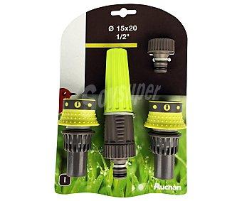 """Auchan Kit completo de riego de ABS y 1/2"""" 1 Unidad"""