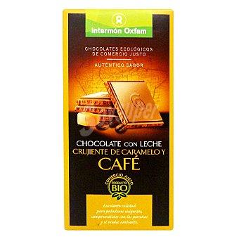 Intermón Oxfam Tableta de chocolate con leche, caramelo y café 100 g