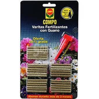 Compo Varitas fertilizantes con guano Pack 24+6 unid