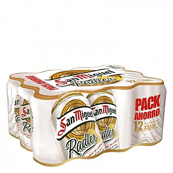 San Miguel Cerveza Radler con limón Pack de 12 latas de 33 cl
