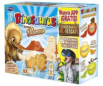 Dinosaurus Artiach Galletas de cereales con chocolate blanco (forma de dinosaurios) Dinosaurus 340 gramos