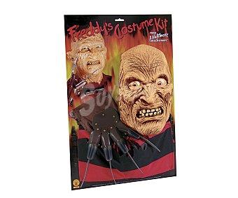 Haunted house Set Freddy Krueger Halloween, incluye máscara más guantes con cuchillas Máscara+guantes Freddy