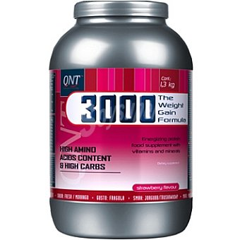 QNT 3000 Weight Gain Protein Sabor fresa Bote 1300 g