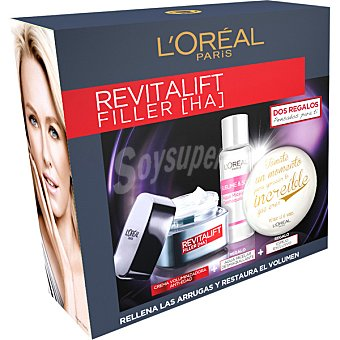 L'Oréal Pack Revitalift Filler crema voluminizadora anti-edad + regalo agua micelar desmaquillante + regalo de un espejo