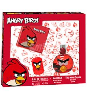 Angry Birds Estuche colonia + cuaderno + colgante 1 ud