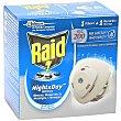 Night & Day Insecticida antimosquitos difusor eléctrico + recambio  Raid