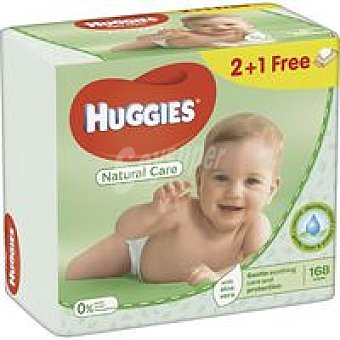 Huggies Toallitas Natural Care Pack 2+1 unid