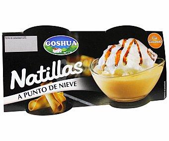 Goshua Natillas a punto de nieve Pack 2x100 g
