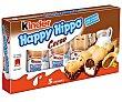 Happy Hippo (galleta de barquillo con cacao y relleno cremoso de leche y cacao) 5 unidades 103,5 gramos Kinder