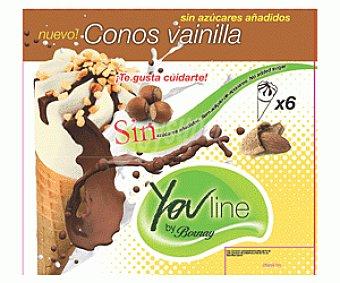 Bornay Cono Vainilla Sin Azúcar 6x120ml