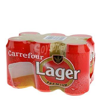 Carrefour Cerveza lager Pack de 6x33 cl