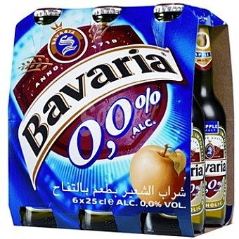 BAVARIA 0,0% Cerveza sin alcohol malta-manzana Holanda pack 6 25 Pack 6