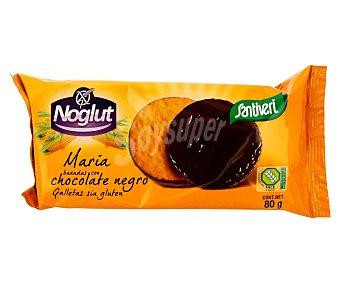 Santiveri Noglut Galletas María bañadas de chocolate negro sin gluten Envase 80 g