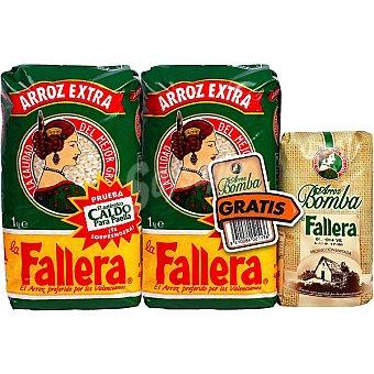 La Fallera Pack de 2 arroz redondo granza bolsas 1 kg + regalo 300g arroz bomba Pack de 2