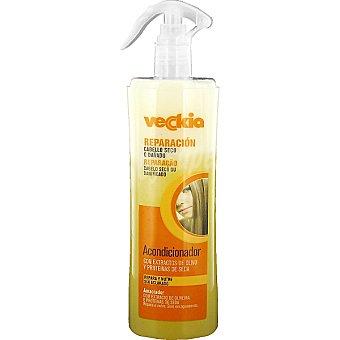 Veckia Acondicionador reparación con extractos de olivo y proteínas de seda dosificador 400 ml para cabello seco repara y nutre sin aclarado Dosificador 400 ml