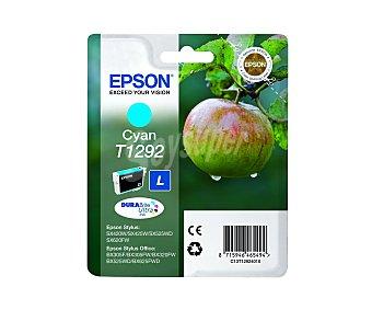 Epson Cartucho Cian T1292- Compatible con Impresoras: stylus SX / 420W / 425W stylus office BX / 305F / 320FW / 525WD / 625FWD / 925FWD office B / 42WD