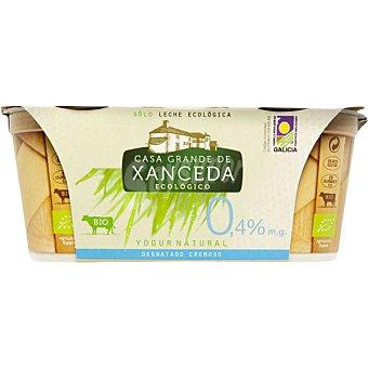 Casa Grande de Xanceda Yogur cremoso desnatado natural Pack 2 unidades 125 g