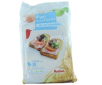 Auchan Pan tostado sin sal añadida en rebanadas 270 gramos