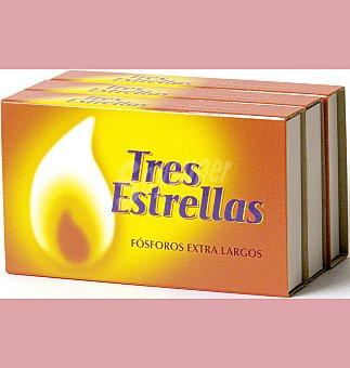 TRES Fosforos estrell extralargos 3 UNI
