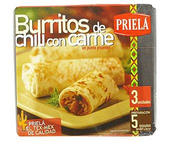 Priela Burritos de chili con carne Caja 300 g