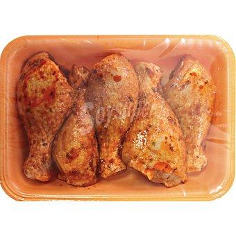 Atlántico 7 Jamoncitos de muslo de pollo a la barbacoa bandeja 1 kg peso aproximado Bandeja 1 kg