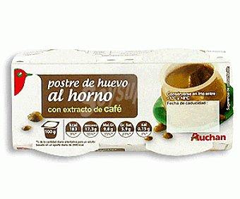 Auchan Postre de Huevo al Horno con Café 2x100g