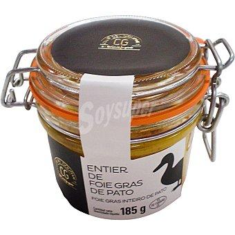 Club del gourmet Entier de foie gras de pato tarro 185 g tarro 185 g