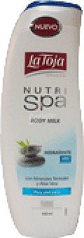 La Toja Body milk hidratante con minerales termales y aloe vera para piel seca Nutri Spa Frasco 400 ml