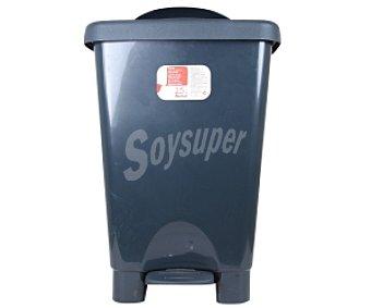 Auchan Cubo de basura con pedal negro-negro 25 Litros 1 Unidad