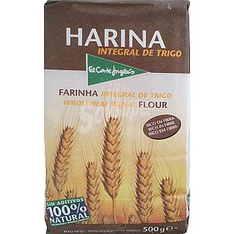 El Corte Inglés Harina integral de trigo  paquete de 500 g