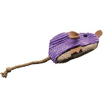 KONG Peluche para gato con forma de ratón forrado de pana incluye bote con catnip para rellenar 1 unidad