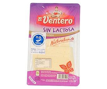 El Ventero Queso de mezcla tierno en lonchas sin lactosa 140 gramos