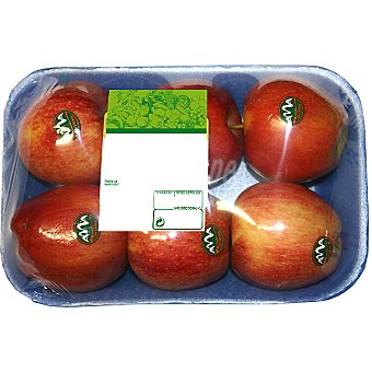 Manzanas royal gala peso aproximado Bandeja 1 kg