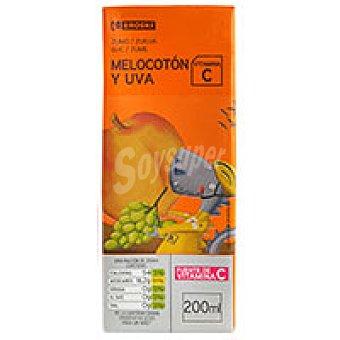 Eroski Zumo de melocotón-uva Pack 6x20 cl