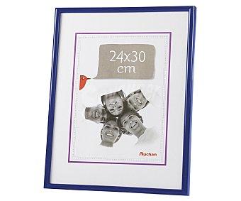 Auchan 58 Marco de plástico, color azul. Colección Universal. 24X30 cm, para sobremesa y pared. AUCHAN.