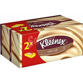 Kleenex Pañuelos faciales 3 capas 2 Paquetes de 80u