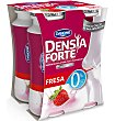 Yogur beber forte fresa 0% 4 unidades Densia Danone