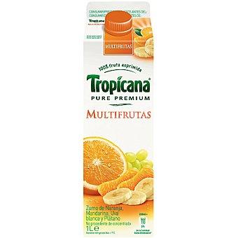 Tropicana Pure Premium Zumo de multifrutas de naranaja, mandarian, uva blanca y plátano Envase 1 l